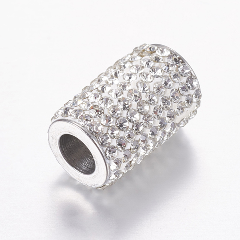 10 Sets 304 Stainless Steel Rhinestone Magnetic Clasps, Column, Crystal, 18x12mm, Hole: 6mm F8010 Sets 304 Stainless Steel Rhinestone Magnetic Clasps, Column, Crystal, 18x12mm, Hole: 6mm F80