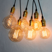 Vintage E27 Edison Bulb Retro Lamp G80 G95 G125 40W Incandescent Light bombillas Squirrel-cage Decorative Filament ampoule