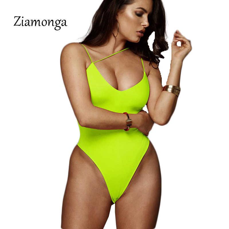 Ziamonga fuera del hombro Bodi mujer verano Top sin mangas ahuecado Bodycon monos Sexy mono mujer playa trajes
