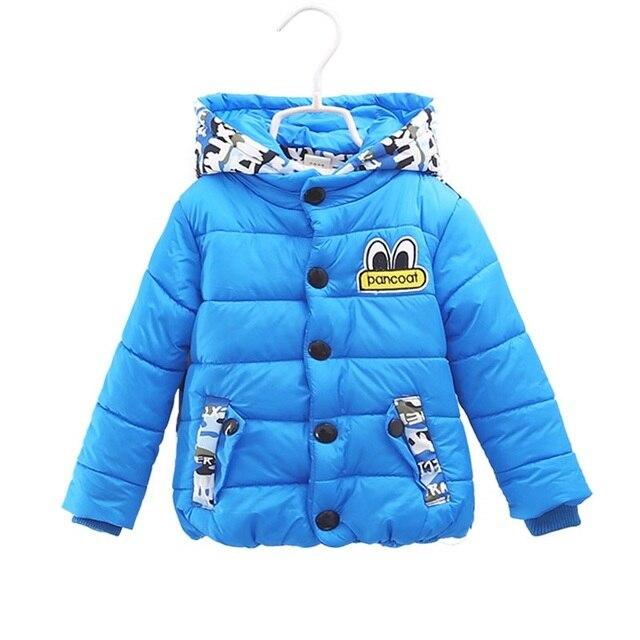 Новый 1-2 лет зимние мальчики Вниз и парки мода камуфляж дети верхняя одежда для мальчиков утолщаются хлопка мальчики с капюшоном пальто