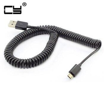 3 M/10FT Micro Usb sprężynowe przedłużenie kabla przenośne chowane dane Usb kable ładowarki do telefonu komórkowego przewód zwinięty Cabo