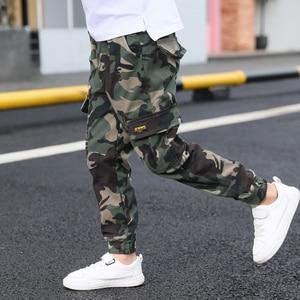 Image 1 - Hot boys summer trousers 4 15 years old Multi pocket camouflage cargo pants Leg fashion versatile boys gift cool