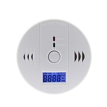 LCD węgla CO detektor tlenku węgla zatrucie gazu alarm ostrzegawczy czujnik monitorowania niebezpieczeństwa tlenku węgla tanie tanio Detektory tlenku węgla carbon monoxide alarm White 3*AA battery(Not included)