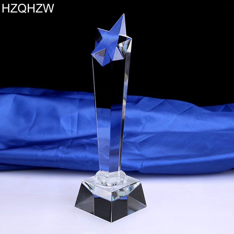 CTPS0020 Uus kohandatud kristalltrofee täht dekoratiivse klaasi - Meeskonnasport - Foto 3