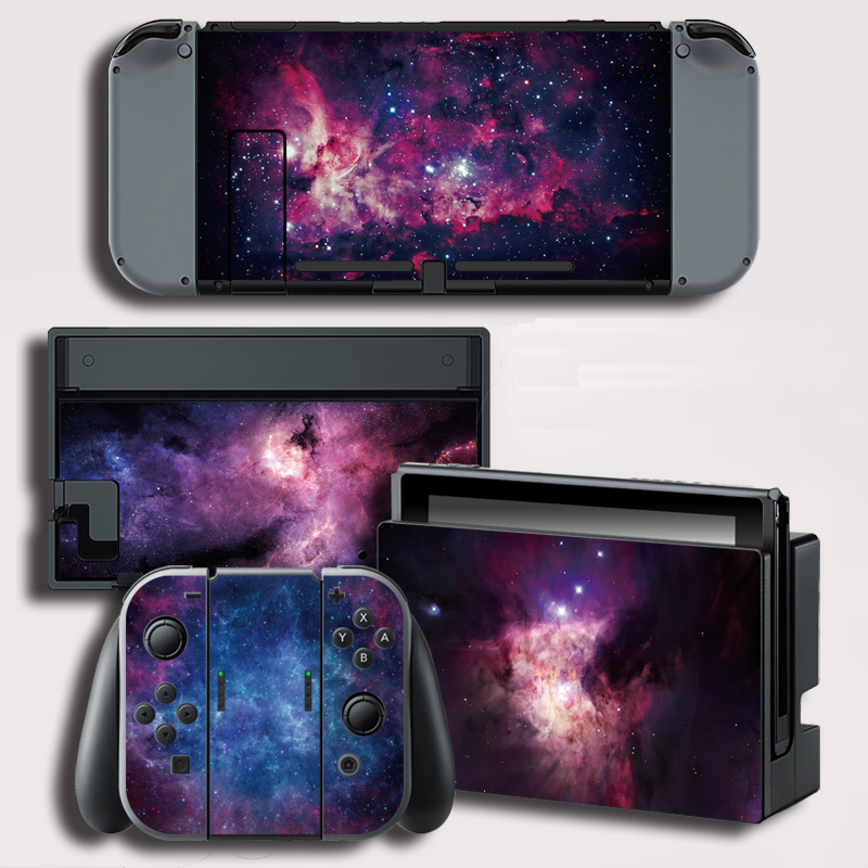 Vinyl Skin Protector Sticker for Stars Stickers for Nintendo Switch NS Console + Controller + Stand Holder Protective Film