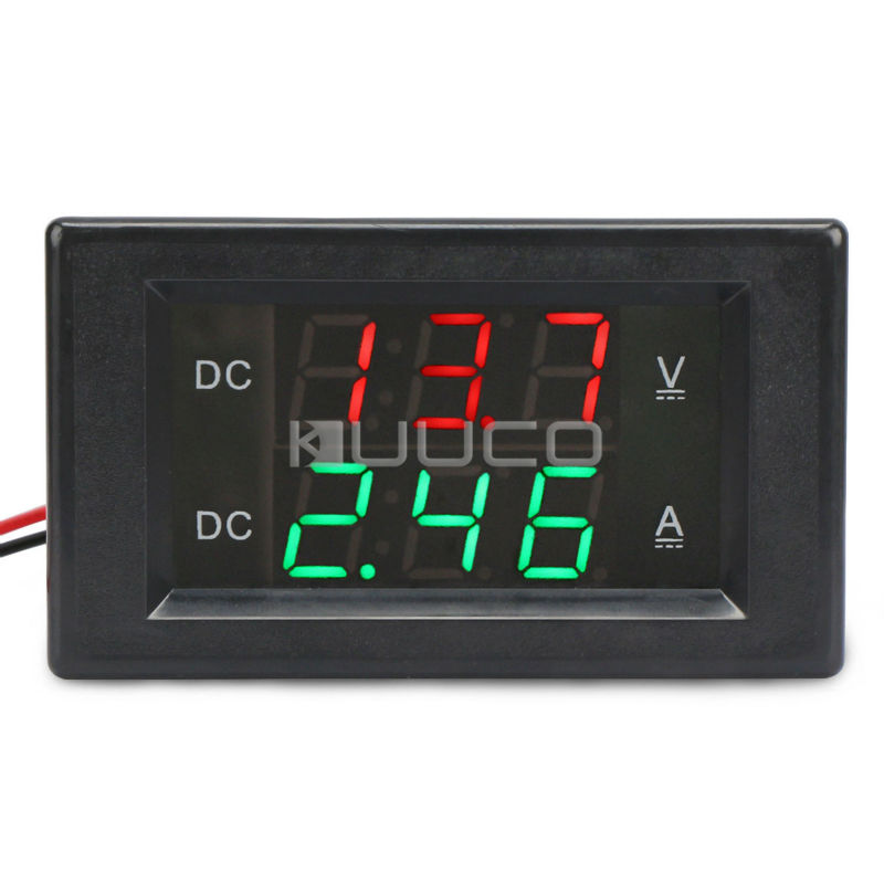 цена на Digital Voltmeter Ammeter DC 0.0~300V/20A Led Dual Display Voltage/Current Meter DC12V 24V Volt Ampere meter 2in1 Digital Tester