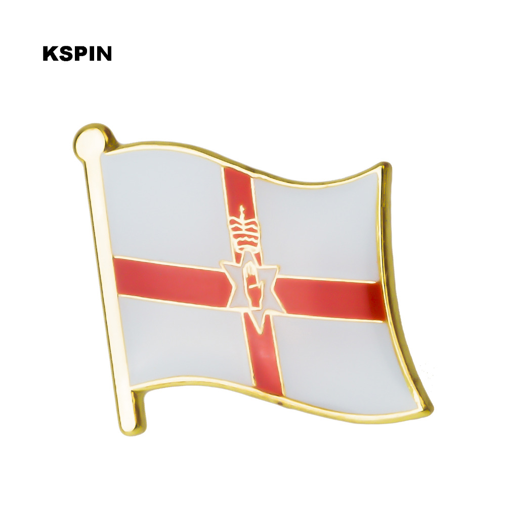 Arts,crafts & Sewing Considerate Badge North Ireland Flag Metal Badges For Clothes Flag Badges Enamel Lapel Pin Rozet Metal Pin Xy0275 Handsome Appearance