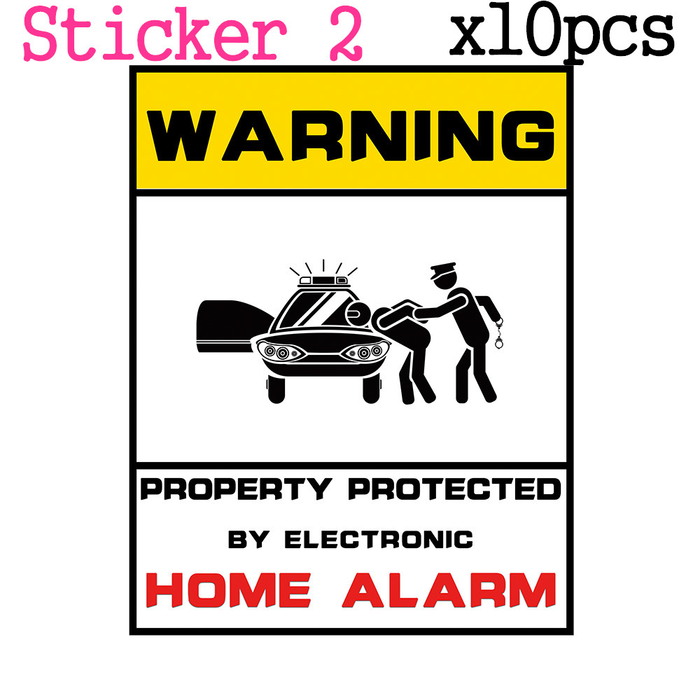 все цены на 10pcs/Lot Warning Sticker 24 Hours Monitored By Video Camera CCTV Surveillance Security Camera Home Alarm Warning Decal Signs