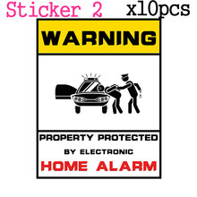 10pcs/Lot Warning Sticker 24 Hours Monitored By Video Camera CCTV Surveillance Security Camera Home Alarm Warning Decal Signs