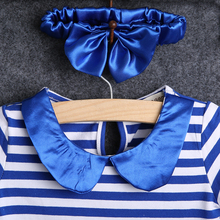 3Pcs Baby Kid Dresses Girl Outfits Short Sleeve Stripe t shirt + skirt with bow +Headband baby girl clothes set summer clothing