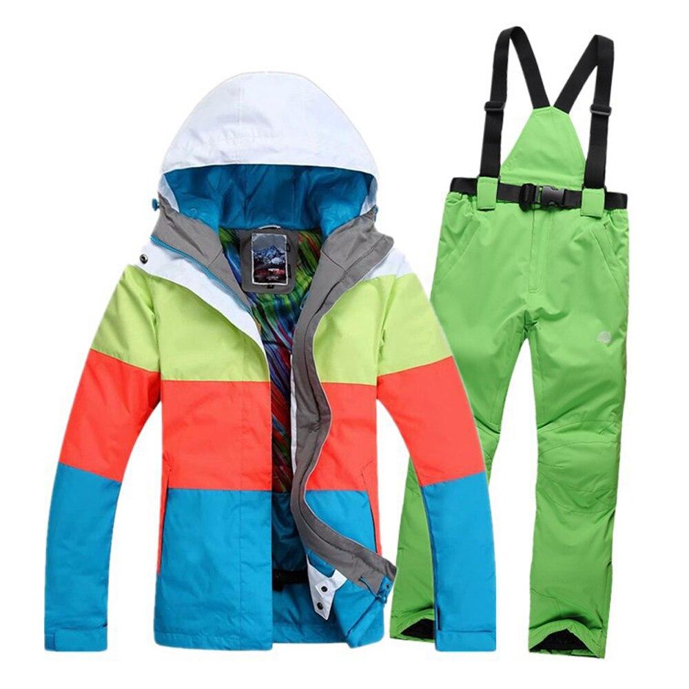 Vente de vêtements de Ski nouveau 2019 hiver femme vêtements de ski Gsou femmes manteau de ski snowboard Ski costume femmes neige porter veste pantalon - 5