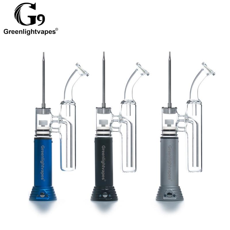 Kit Cigarette électronique Greenlightvapes dab riG9 Mini Henail cire/Extraction/concentrés stylo Dab eau verre Tube tuyaux barboteur