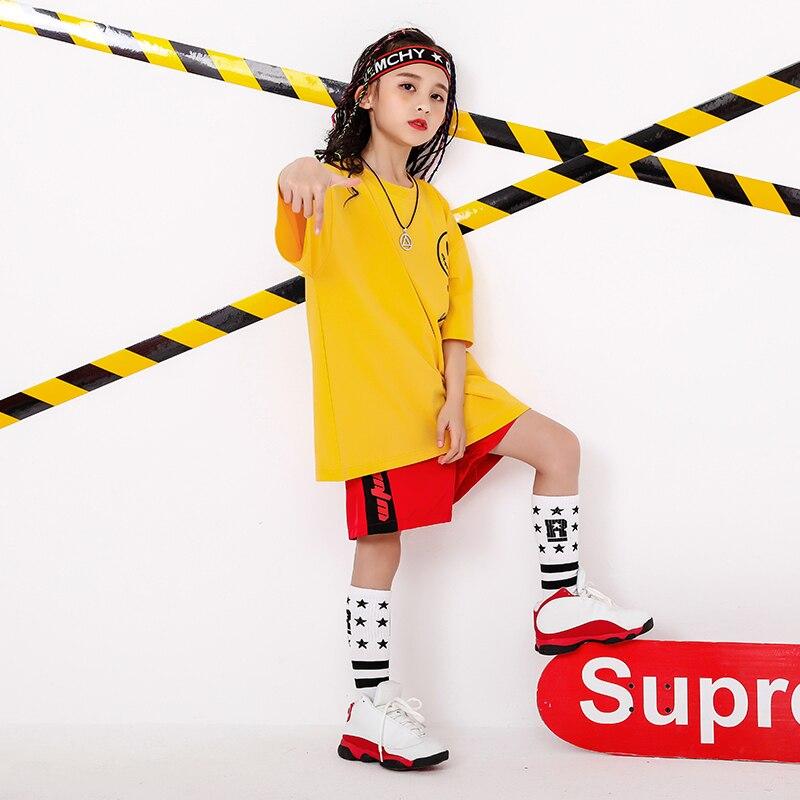 Boy Girl summer 2019 clothes Set 4 6 8 10 12 14 16T hip hop dance costumes kids Jazz set on the boy outfits kids clothes boys (1)