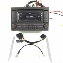 Radio de coche Reproductor de CD MP3 USB AUX Bluetooth RCN210 Para VW Golf Jetta MK4 Passat B5 Polo 9N