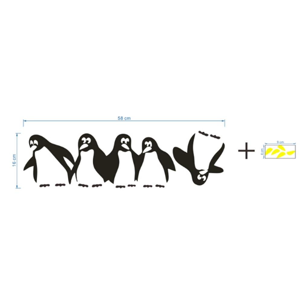 HTB1OFVDQpXXXXaLXVXXq6xXFXXXN - 1PC Funny Penguin Kitchen Fridge Sticker
