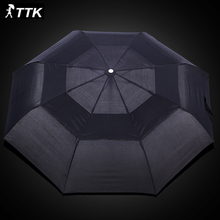Top Double Layer Windproof Umbrella Three Folding parasol male Commercial Automatic Umbrella men business large rainy sunny