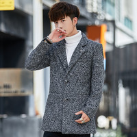 Outfit cloth coat new men's cultivate one's morality short thickening woolen cloth coat dust coat of no small yards trend