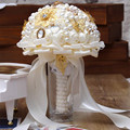 Hot Sale The Latest Handmade Pearl Bridal Bouquet Silk Wedding Bouquets Crystal Bouquets