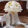 Venta caliente La Última Perla Hecha A Mano Ramo de Novia De Seda Ramos de Novia Ramos de flores de Cristal
