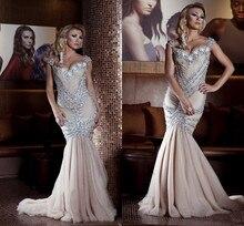 Vestidos de Mermiad Voller Kristall Kleid Sexy Abendkleid 2016 Lange Formale Kleider Lange Abendkleider