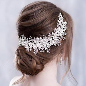 Flower Headband Jewelry Hairpins Hair-Comb Wedding-Hair-Accessories Bridal Tiara