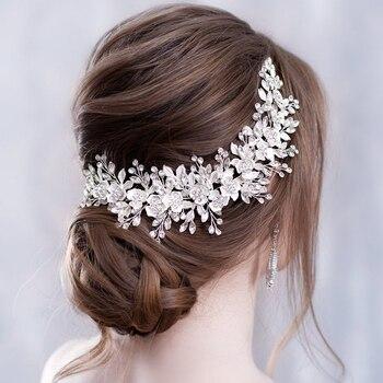Bandeau fleur accessoires de cheveux de mariage