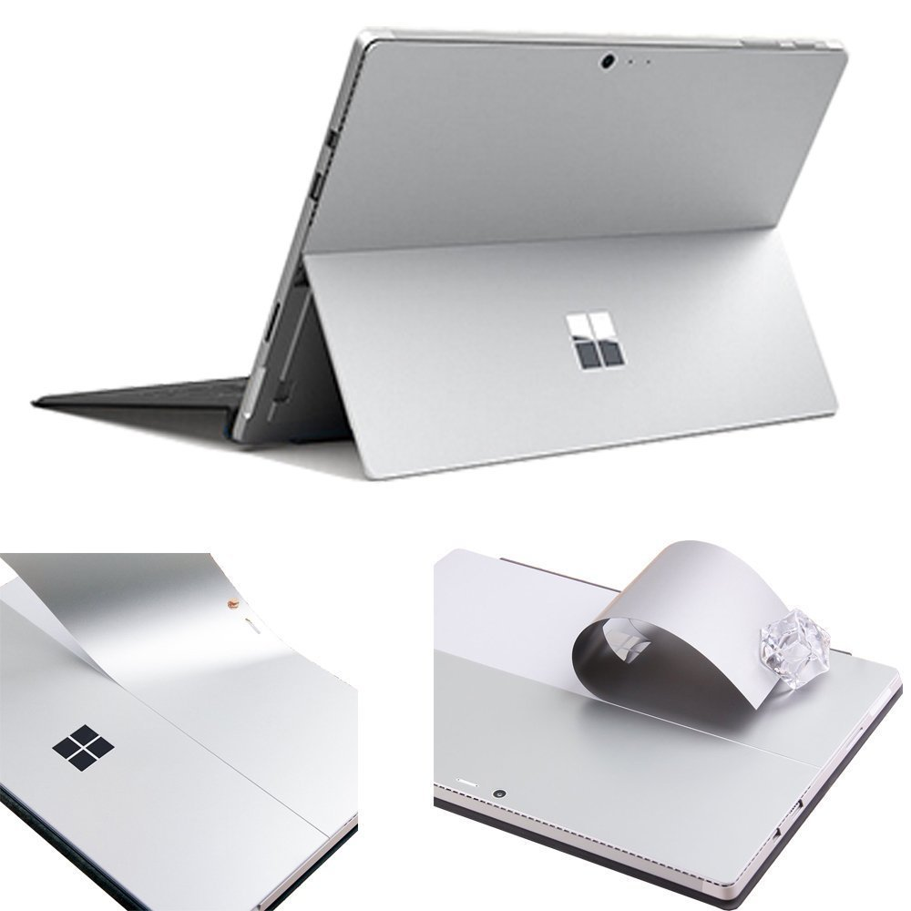 for Microsoft New Surface Pro 2017 Version Laptop Back Cover Anti-scratch Silver Removable Bubble Free Slim Decal Laptop Sticker