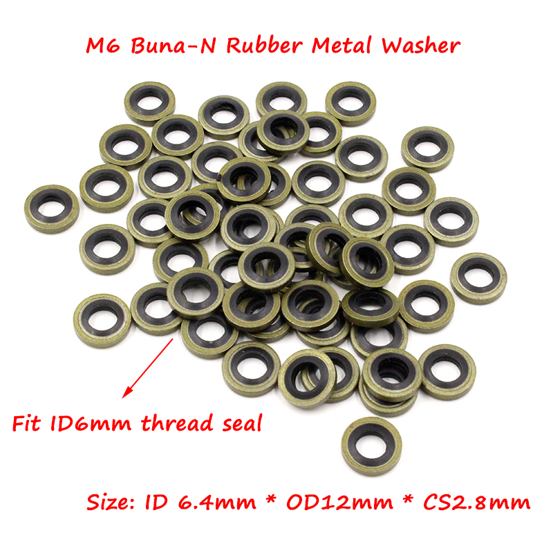 M6 Bonded Seal Washers For High Pressure Gauge or Quick Connect ...