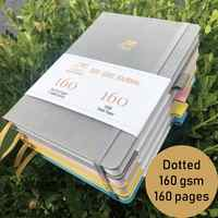Hardcover Bullet Journal Notebook Dotted Grid Paper 160Gsm 160Pages