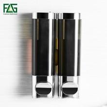 FLG Double Soap Dispenser Wall Mounted Kitchen Bathroom Bottle Plastic Pump Dispensers P145