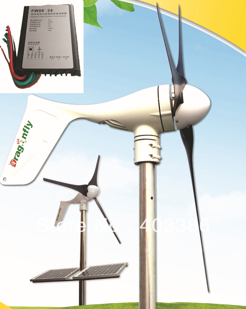 CE,Russia,RoHS approved Grid tie 400W wind turbine generator +400W controller+400W on grid inverter 400w wind generator new brand wind turbine come with wind controller 600w off grid pure sine wave inverter