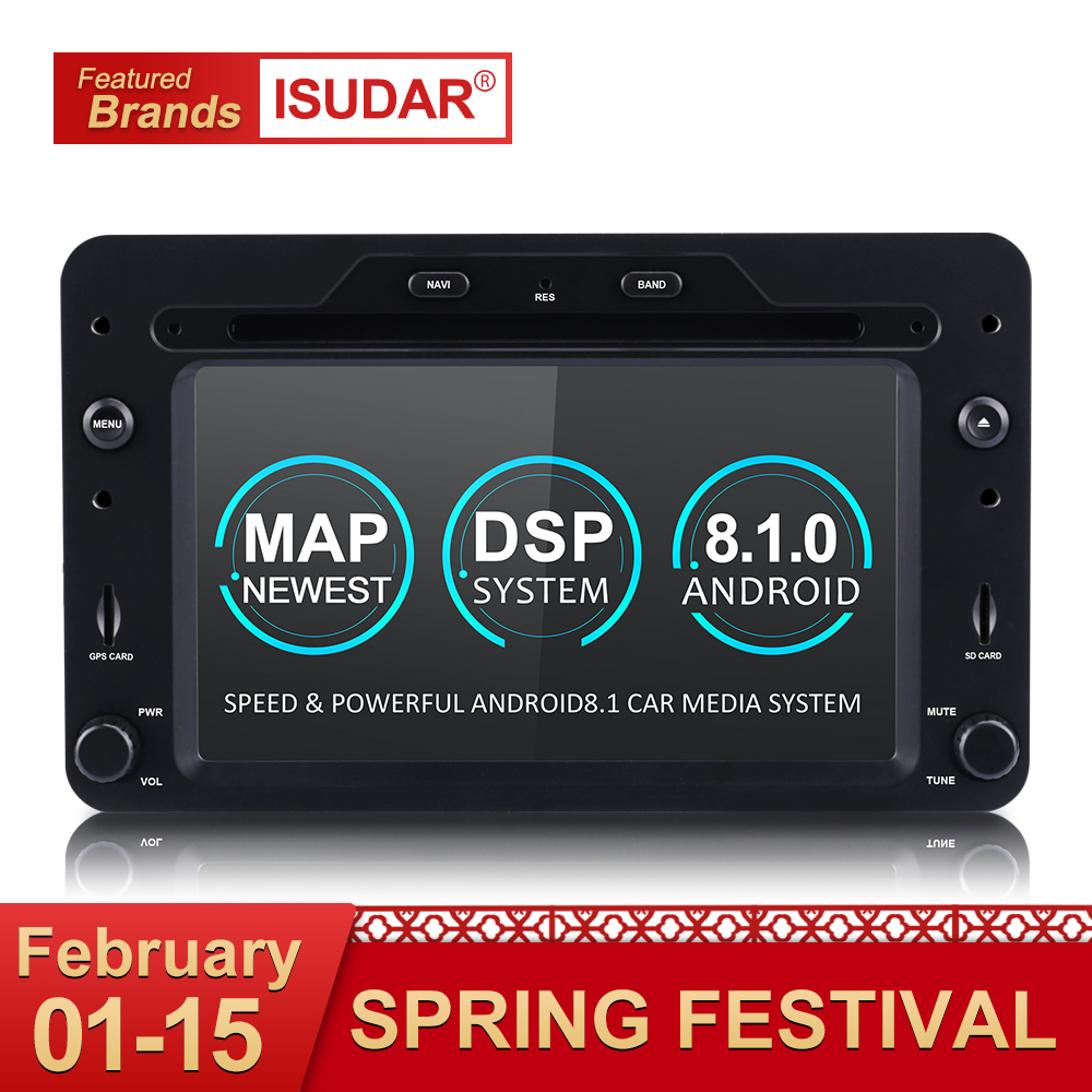 Isudar Auto lettore Multimediale Android 8.1 di GPS Dell'automobile 1 Din DVD Automotivo Per Alfa/Romeo/Spider/Brera /159 Sportwagon Radio Quad Core