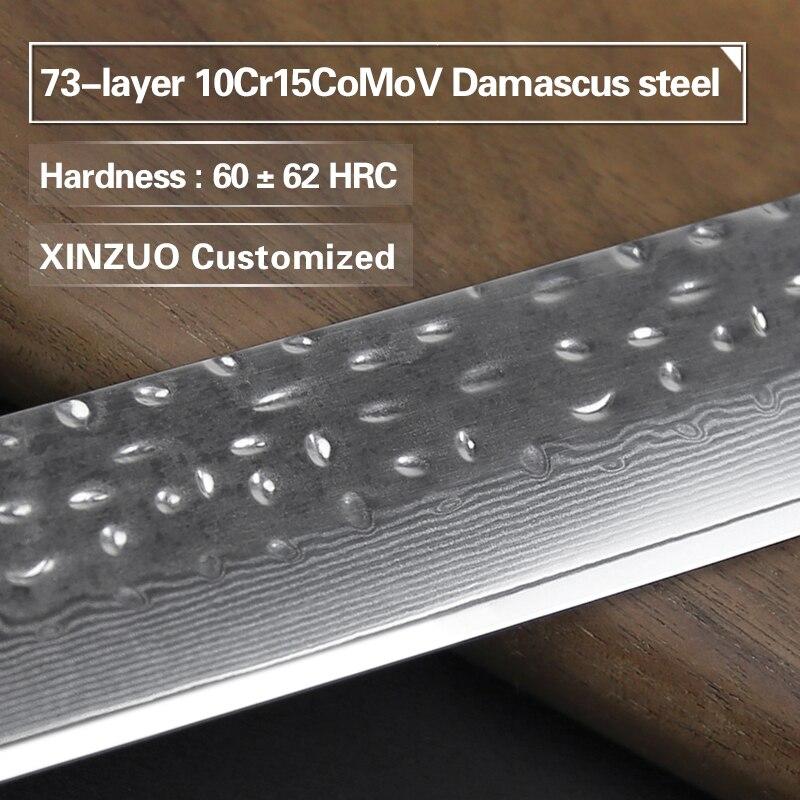XINZUO 10 ''Cleaver มีด 10Cr15CoMoV สูงคาร์บอนเหล็กดามัสกัส 2018 ที่ยอดเยี่ยมครัวซูชิซาซิมิมีดด้ามไม้-ใน มีดครัว จาก บ้านและสวน บน   2