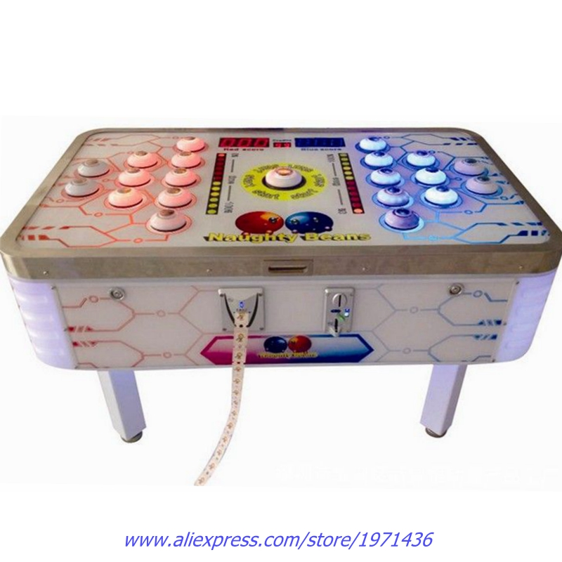 For 2 Players Amusement Equipment Token Coin Operated Hit Beans Table Arcade Games Tickets Redemption Game Machine