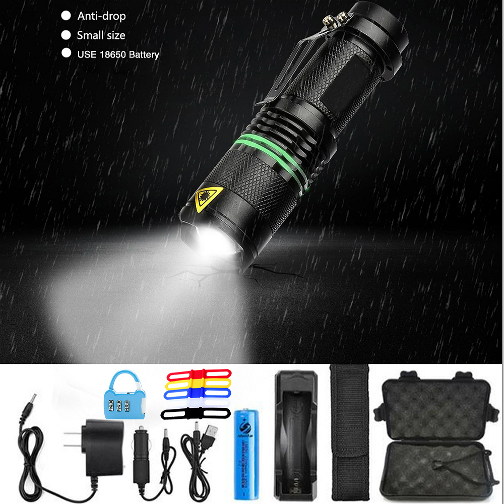8000 Lumens LED Adjustable Waterproof Flashlight Zoom CREE XML-L2 Led Torch 5 Mode Use 18650 Rechargeable Battery Sent Free Gift albinly led flashlight zoom cree xml l2 led torch 5 mode 8000 lumens waterproof use 18650 rechargeable battery sent free gift