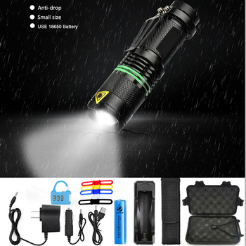 8000 Lumens LED Adjustable Waterproof Flashlight Zoom CREE XML-L2 Led Torch 5 Mode Use 18650 Rechargeable Battery Sent Free Gift фото