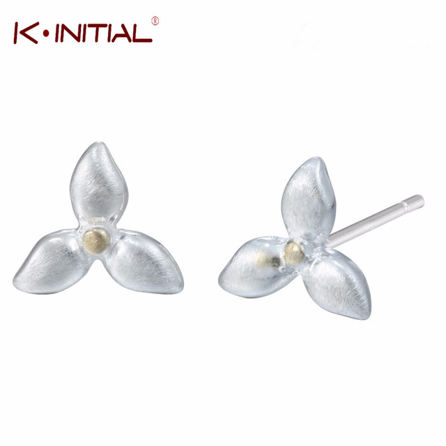 Kinitial Tiny Four Leaf Clover Shamrock Stud Earrings Flower Jewelry For Kids Women Costume Accessories