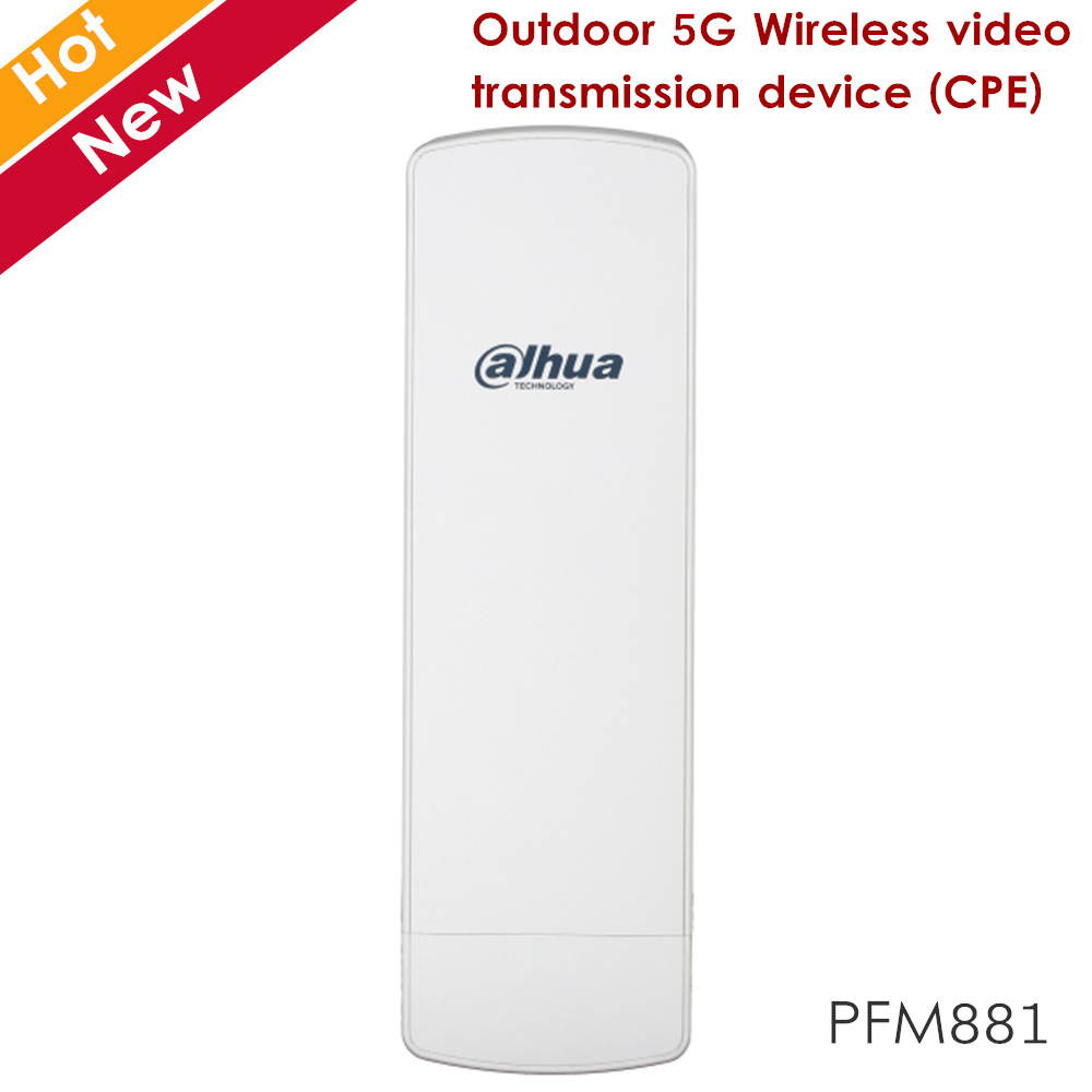 Dahua PFM881 Outdoor 5G Wireless Video Transmission Device Support Multiple Channel Option 5M 10M 20M 40M And Auto Reboot