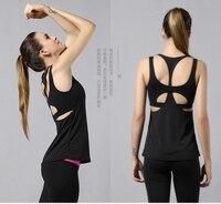 NWT Eshtanga Yoga tank Sexy Women Sport Gym Vest Clothes 4 way stretch fabric Tank Tops Fitness Running shirts with build bra
