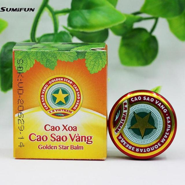 Golden Star Tiger Balm Ointment For Headache Dizziness Insect Stings Heat Eos Asterisk 4g Stroke Insect Stings Essential Balm