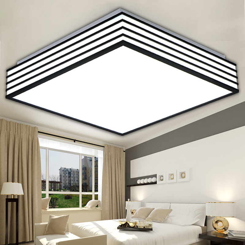 Kitchen Lighting Ceiling Fixtures: Square Modern Led Ceiling Lights Living Lamparas De Techo
