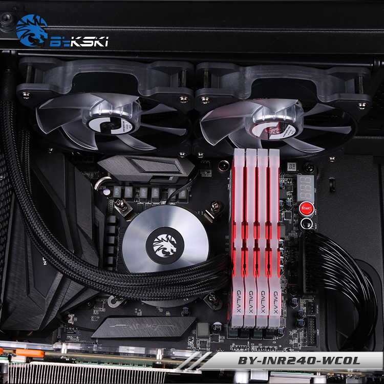 BYKSKI Water Cooling Kit Basic Kit with 120mm 240mm Radiator Pump CPU Block Fan Simple Cooling Building in Fans Cooling from Computer Office
