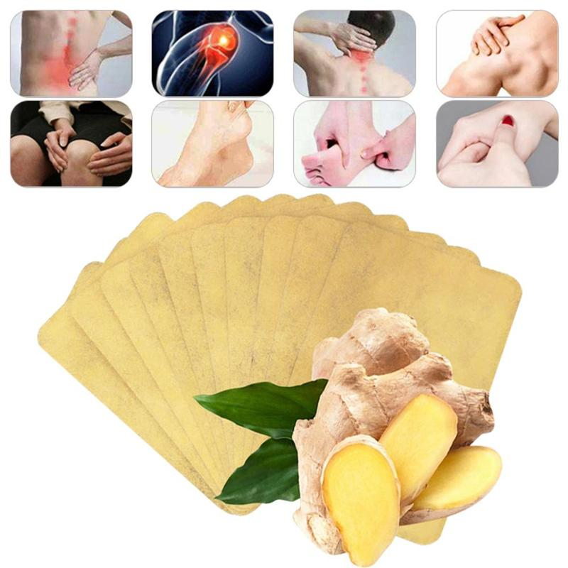 10Pcs Natural Ginger Wormwood Detox Foot Pads Patches Improve Sleep Quality Knee Pain Plaster Health Care Body Warmer Sticker