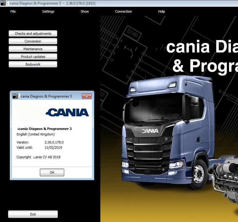 SDP3 V2.36 VCI 3 VCI3 программного обеспечения для Scania диагностики инструментов программирования без ключа