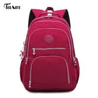 TEGAOTE Classic Backpack For Teenage Girls Mochila Feminina Women School Backpacks Nylon Waterproof Casual Laptop Bagpack
