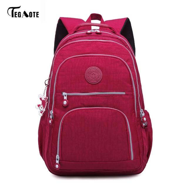 TEGAOTE Classic Backpack for Teenage Girls Mochila Feminina Women School  Backpacks Nylon Waterproof Casual Laptop Bagpack Female 58b145a812ce1