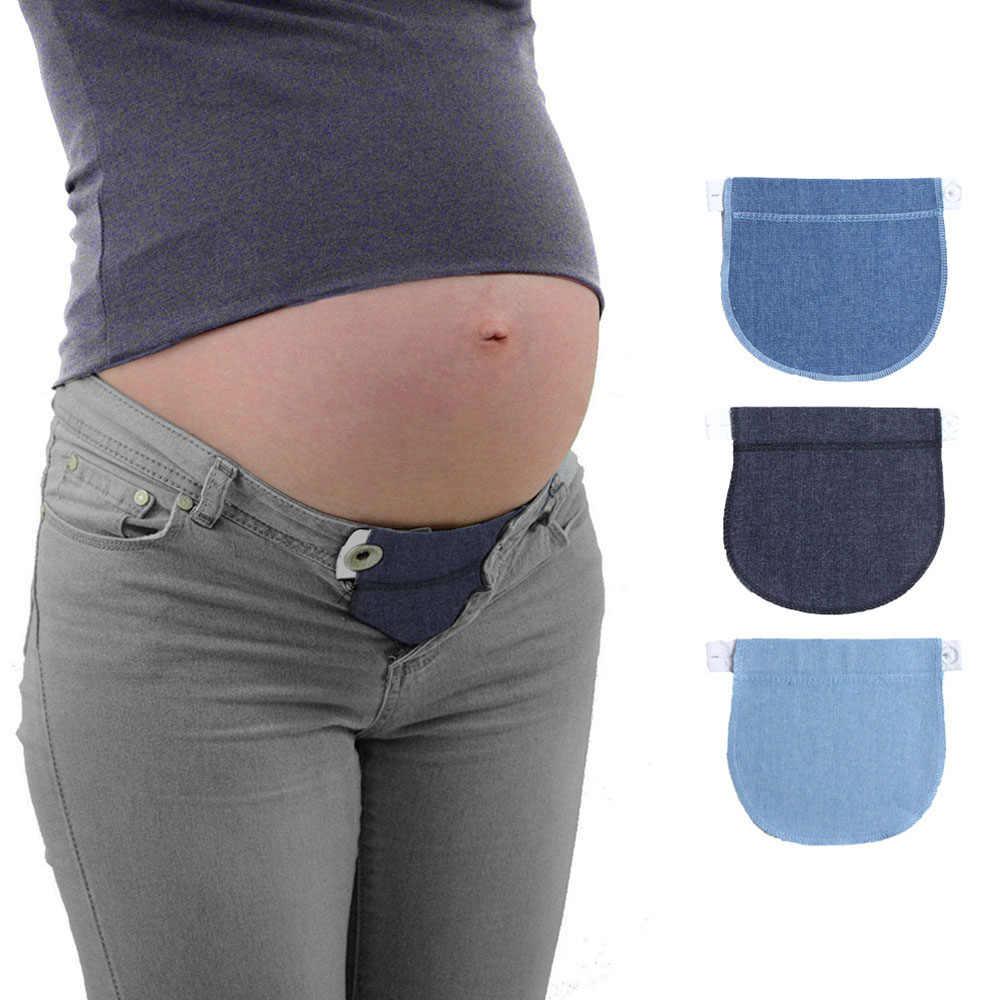 2019 Pregnancy Waistband Belt Adjustable Elastic Pants Extended Waist Lengthening Button Pant Extended Button for Pregnant Women