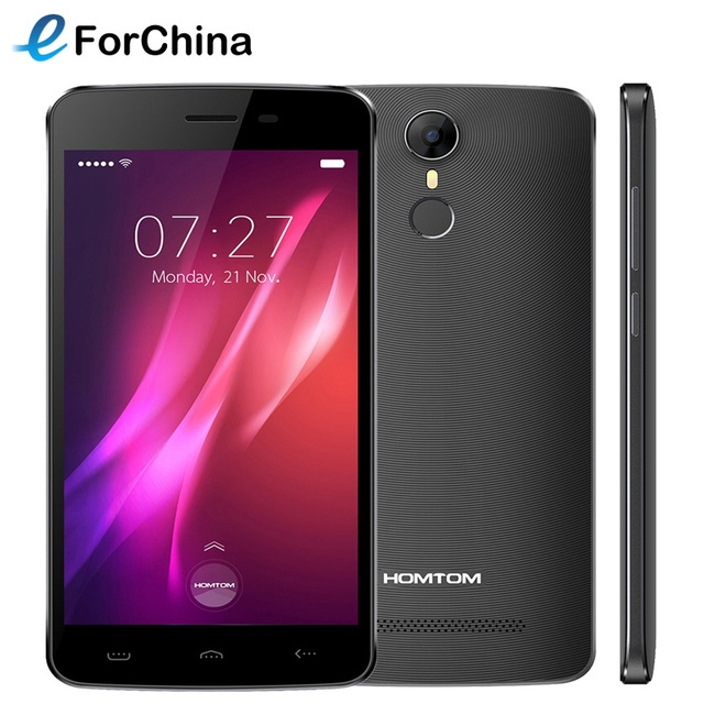 Original Homtom HT27 Cell Phone 5.5 inch Android 6.0 MTK6580 Quad Core 1.3GHz 1GB RAM 8GB ROM Smartphone 1280 x 720 pixel Camera