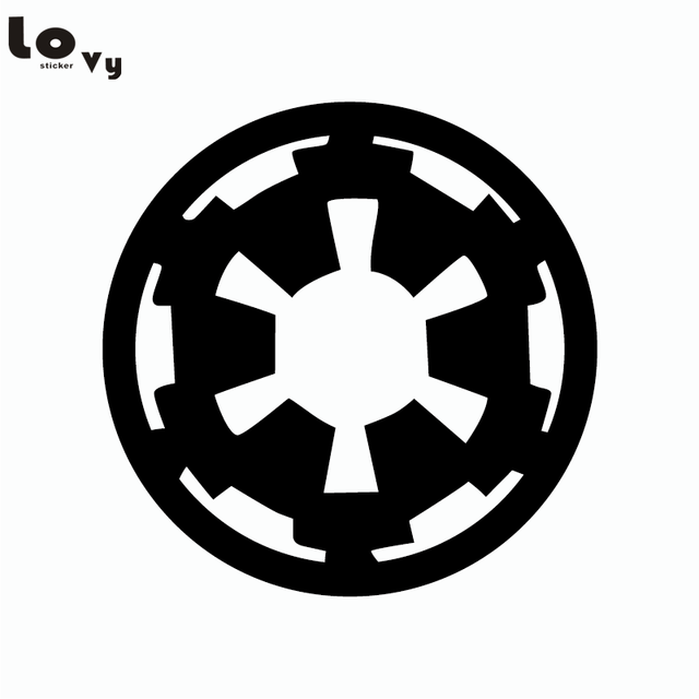 Classic movie star wars wall sticker cartoon imperial logo vinyl wall decal home decor 15cm