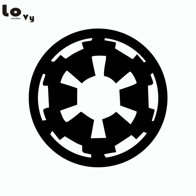 Classic Movie Star Wars Wall Sticker Cartoon Imperial logo Vinyl Wall Decal Home Decor (15cm)